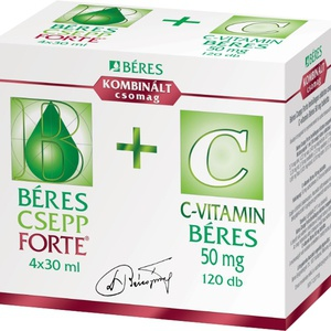 Béres Csepp Forte 4x30 ml +C-vitamin 50 mg