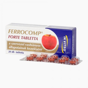 Ferro-Comp Forte tabletta 10mg 20x