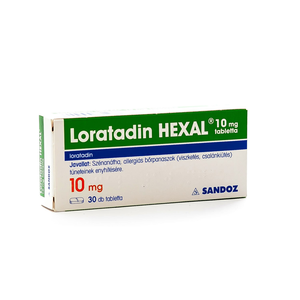 Loratadin HEXAL 10 mg tabletta 30x
