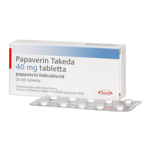 Papaverin Takeda 40 mg tabletta 20x